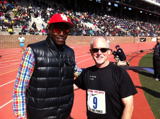 Carl Lewis and Mark photo